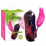 Smile Funky rabbit pink bullet with control